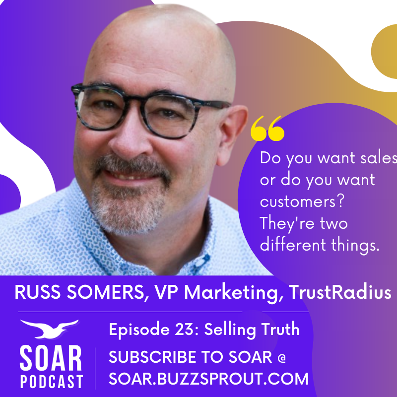 Image of the soar podcast episode with russ somers